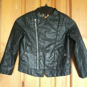Faux leather bike jacket for girl